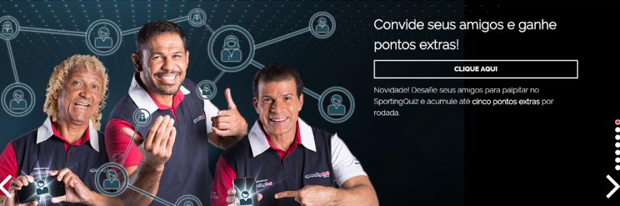 Site SportingQuiz – Prêmios para os seus palpites