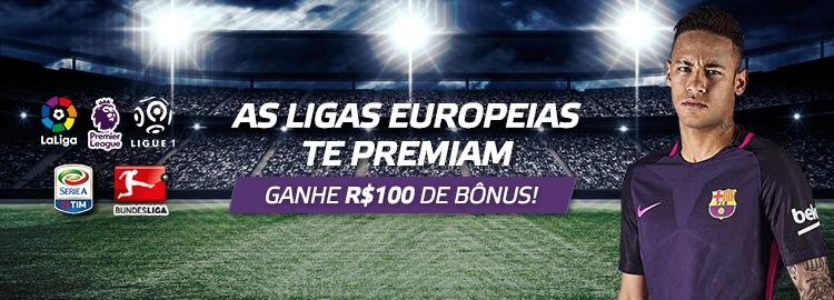 Ligas Europeias darão R$ 100 para quem apostar em dezembro