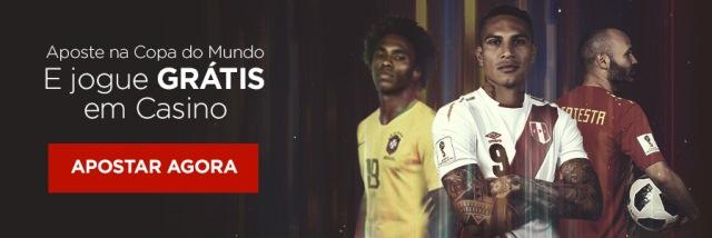Aposte na Copa e jogue GRÁTIS em Cassino Online