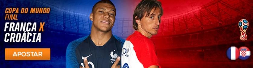 França x Croácia – Aposte na Final da Copa do Mundo